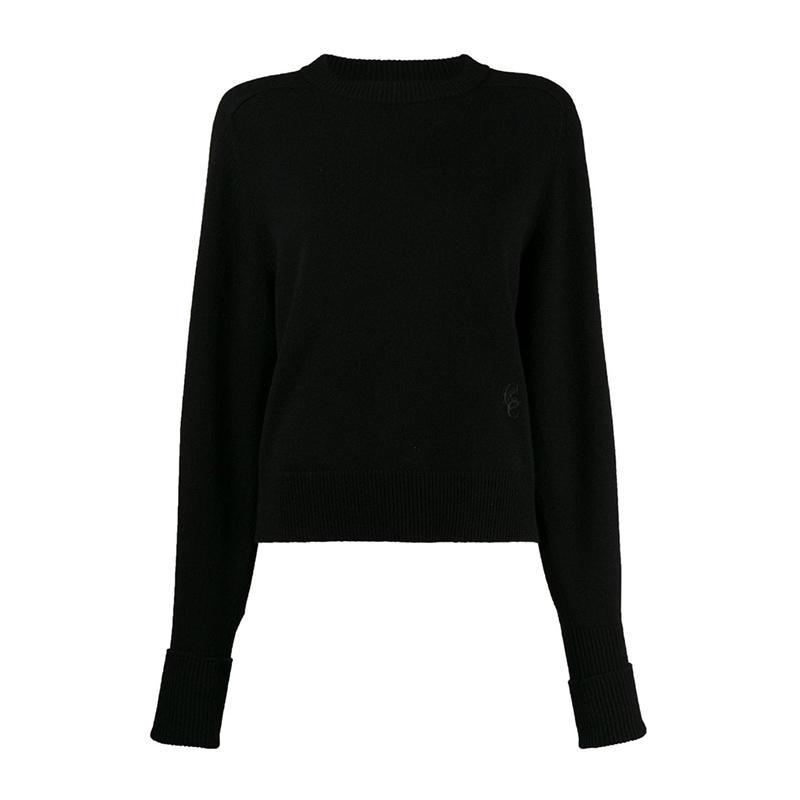 Chloe' 克洛伊 女士黑色黑色logo刺绣套衫卫衣