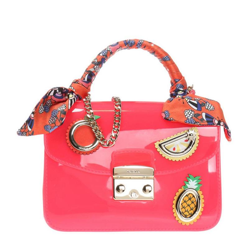 Furla 芙拉 女士粉红色PVC手提包