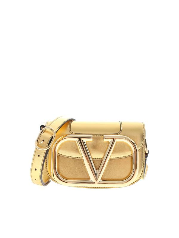 Supervee small shoulder bag in gold color